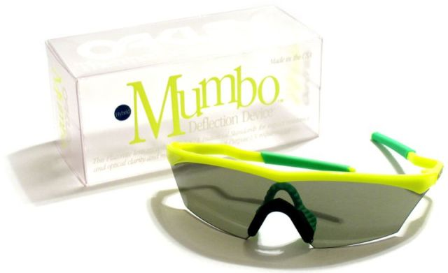 in late 1989 oakley released the mumbo as a form of self competition in order to phase out the blades but still keep sales high with the new model - M Frame